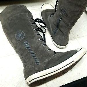 CONVERSE Suede & Fleece tall boots chucks
